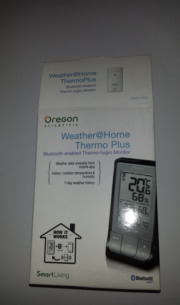 Termo igrometro marca Oregon Scientific RAR213HG Weather Home Thermo Plus